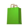 Carrier Shopping Paper Bag Green Empty EPS10
