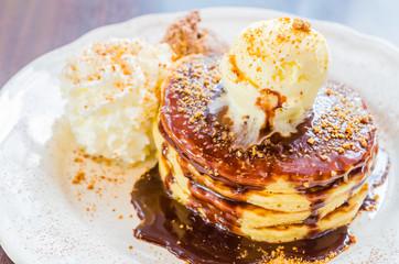 Icecream pancake