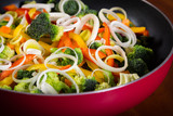 frying pan with vegetables