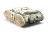 folded hundred dollar bills - Fine Art prints