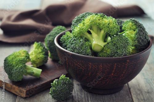 Plexiglas Kruidenierswinkel Fresh green broccoli