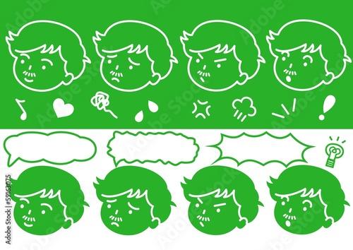 男性の顔ロゴ