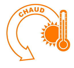 chaud flèche orange