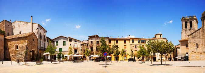 Panorama of town square. Besalu