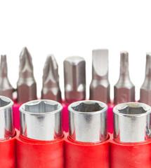 screwdriver tips close up