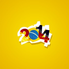 Germany in Brazil 2014 yellow background vector