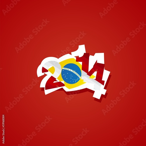 Switzerland in Brazil 2014 vector