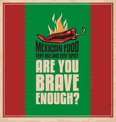 Creative poster design concept for mexican food