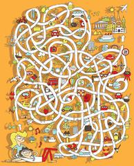 Travel Maze Game. Solution in hidden layer!