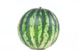 One green striped watermelon