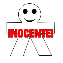 Monigote con mensaje de inocente.