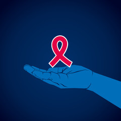 aids symbol in hand vector