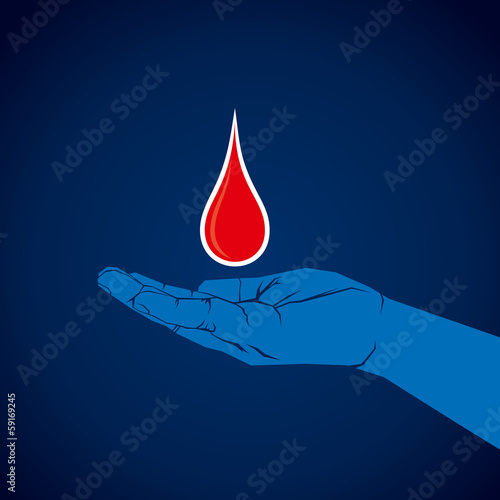 secure and donate blood concept background vector
