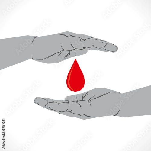 save or donate blood icon concept vecto