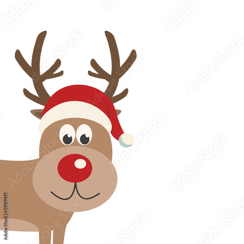 reindeer santa hat isolated
