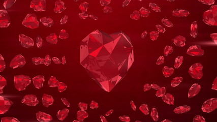 Ruby gem heart background