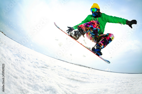 Foto op Canvas Wintersporten Extreme winter