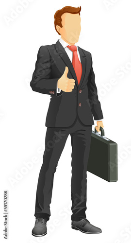 Faceless businessman