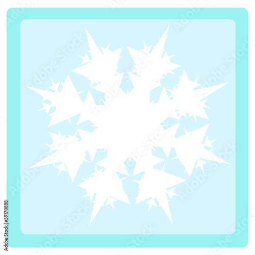 Leinwandbild Motiv gwiazdka śniegowa 2