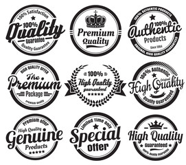 Premium High Quality Guarantee Badges