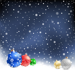 christmas bauble night background