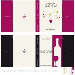 Copertine per libro che racconta del vino