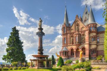 Schlossgarten an der Drachenburg