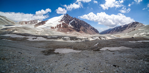 Panorama of Tien Shan mountains