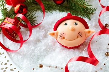 Santa helper  cupcake