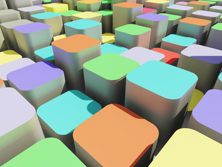 colorful abstract 3d cube background