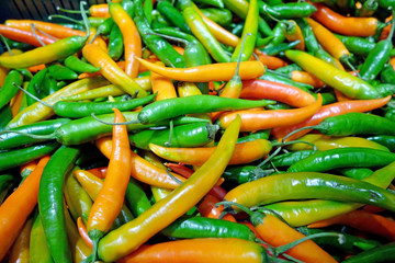 Background of hot pepper