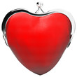heart purse, love, money, purse in the shape of heart