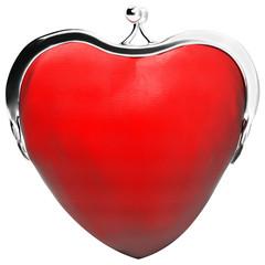 heart purse, love, money, purse in the shape of heart