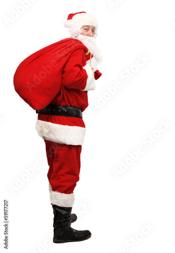 Santa Claus with his sack full of presents