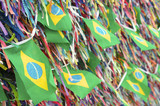 Brazilian Flags Wish Ribbons Bonfim Salvador Bahia