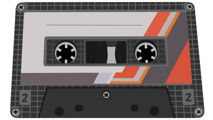 Vector illustration of tape cassette.