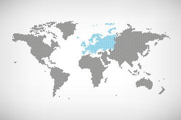 Europa in Welt-Karte