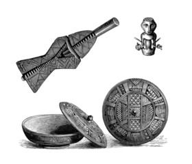 4 Traditional African Artefacts