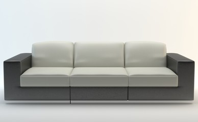 Isolated Sofa - Black and White