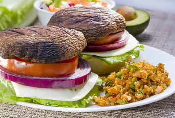 Grilled portabella burger.