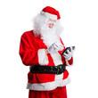 Weihnachtsmann mit Tablet