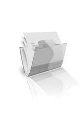 Офисная спрозрачная папка с бумагами
