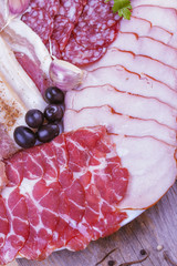 meat delicatessen plate