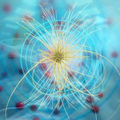Higgs - teilchen - 3d Render
