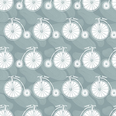 The pattern of retro bikes
