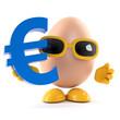 Egg holds a Euro symbol