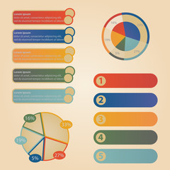 Set elements of info graphic