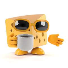 Cheese has a cuppa