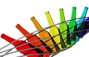 Die Regenbogenflaschen