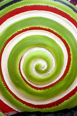 Pattern of green colors rolling circle.